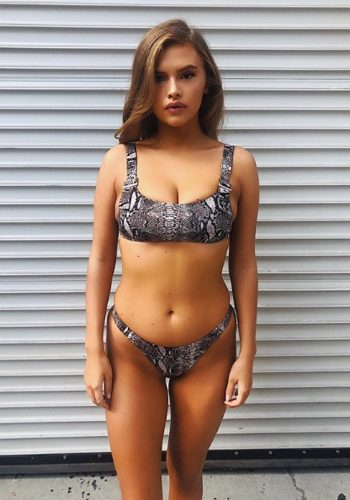 FRANKIES BIKINIS STORMY TOP - SNAKEPRINT