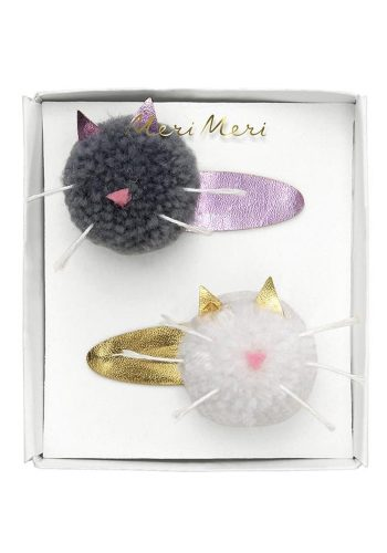 MERI MERI CAT POM POM HAIR CLIPS