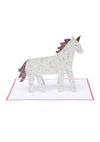 MERI MERI UNICORN GLITTER STAND UP CARD