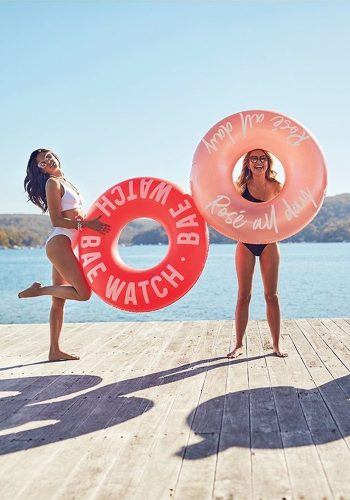 SUNNYLIFE POOL RING - BAE WATCH - RED
