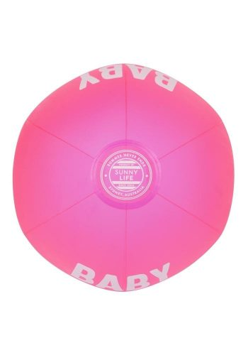SUNNYLIFE INFLATABLE BEACH BALL - BABY GOT BOUNCE - NEON PINK