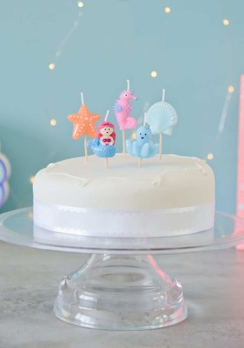 SMILING FACES CAKE CANDLES - UNDER THE SEA