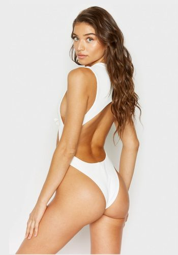FRANKIES BIKINIS BLAKE ONE PIECE - WHITE