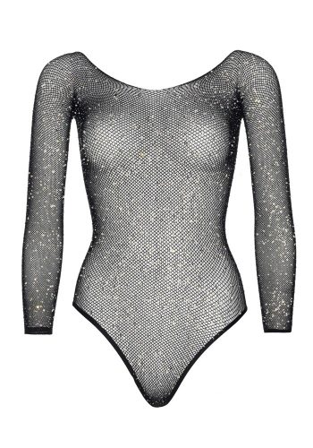 LEG AVENUE FISH NET DIAMONTE THONG BODYSUIT