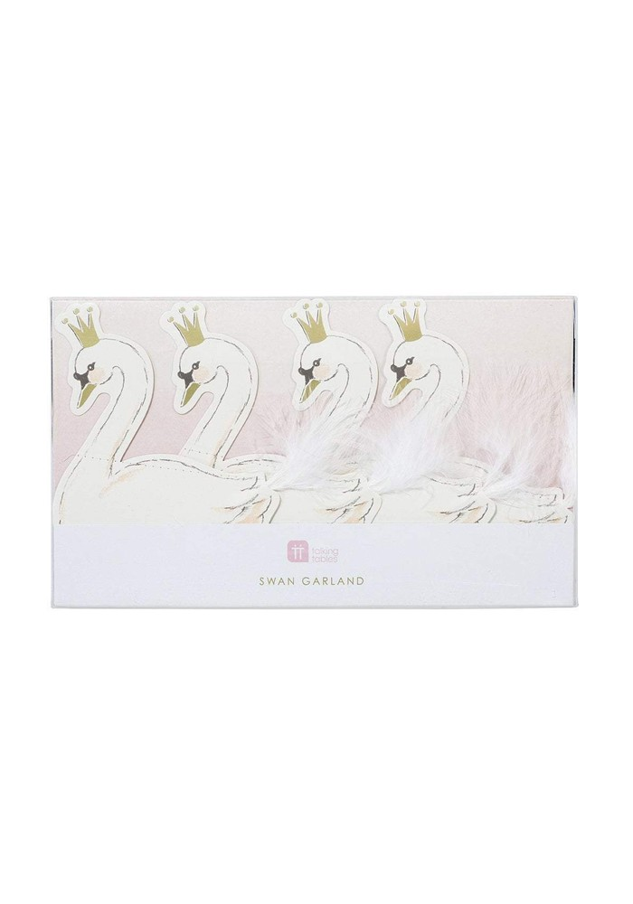 TALKING TABLES WE HEART SWANS PAPER GARLAND