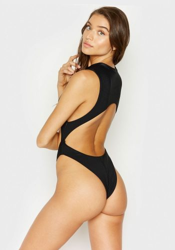 FRANKIES BIKINIS BLAKE ONE PIECE - BLACK