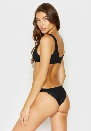FRANKIES BIKINIS COLE TOP - BLACK