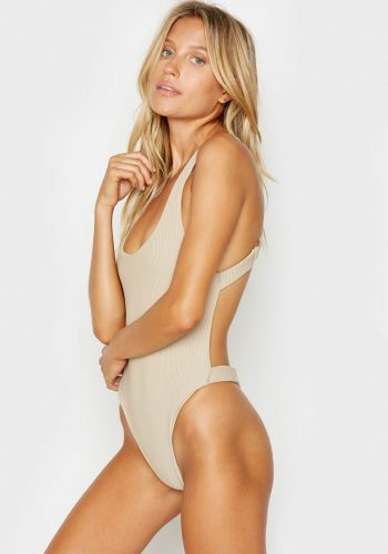 FRANKIES BIKINIS VIV ONE PIECE - LATTE