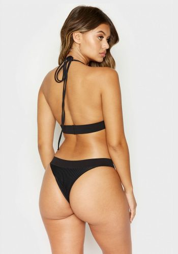 FRANKIES BIKINIS WINNIE BOTTOMS - BLACK