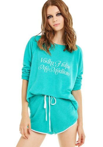 WILDFOX VODKA MEDITATION SOMMERS SWEATER - EMERALD