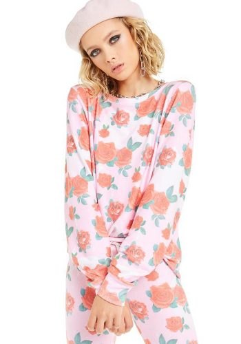 WILDFOX ELECTRIC LOVE BAGGY BEACH JUMPER - MULTI