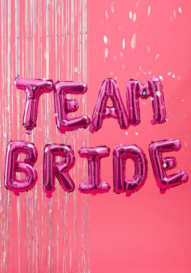 GINGER RAY TEAM BRIDE BALLOON – HOT PINK