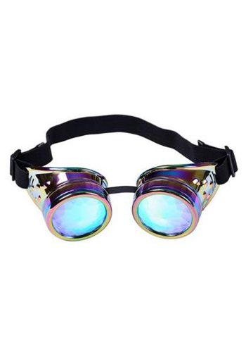 STEAM PUNK KALEIDOSCOPE  GOGGLES - NEON CHROME
