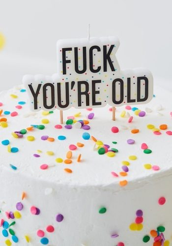 GINGER RAY FUCK YOU'RE OLD BIRTHDAY CAKE CANDLE
