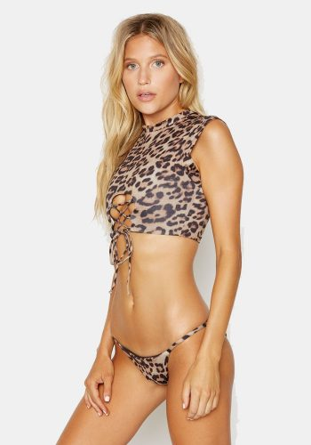 FRANKIES BIKINIS ASHLEY TOP - LEOPARD