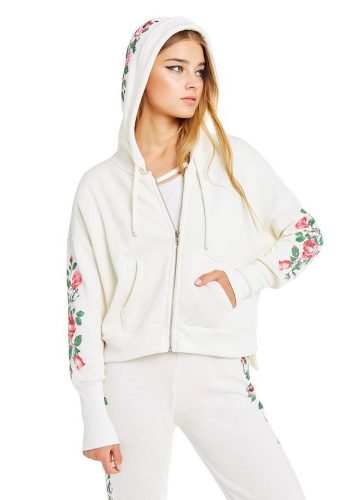 WILDFOX ROSY STEMS THEO HOODIE - VINTAGE LACE