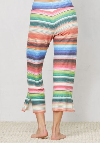 LNA CLOTHING BRUSHED KISMET PANTS - SERAPE STRIPE