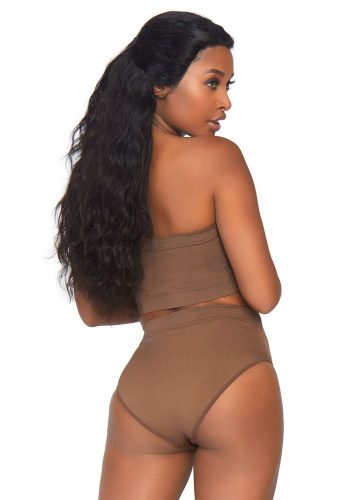 LEG AVENUE 2 PC SEAMLESS TANK TOP AND BIKE SHORT SET - NUDE