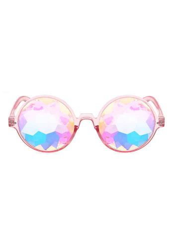 ROUND KALEIDOSCOPE GLASSES – PINK