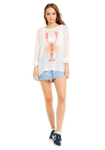 WILDFOX ROCK LOBSTER GENESIS SWEATER - VINTAGE LACE