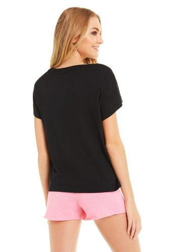 WILDFOX ON HOLIDAY No9 TEE - CLEAN BLACK