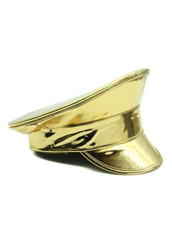 FESTIVAL POLICE HAT - GOLD PATENT