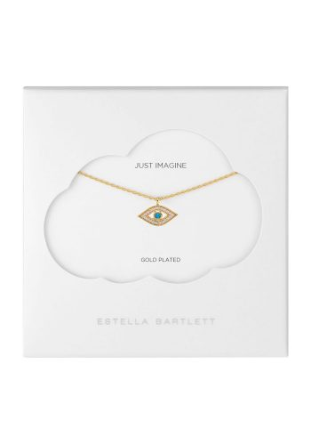 ESTELLA BARTLETT LUCKY EYE NECKLACE - GOLD PLATED