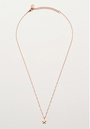 ESTELLA BARTLETT KUSAMA NECKLACE - ROSE GOLD PLATED - WHITE
