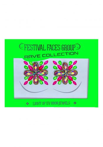 FESTIVAL FACES LIGHT UP UV BOOB JEWELS