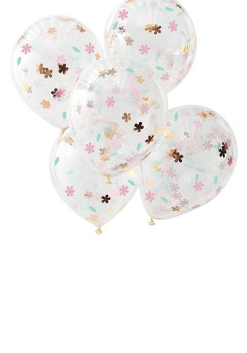 GINGER RAY - FLORAL CONFETTI BALLOONS