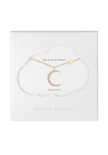 ESTELLA BARTLETT MOON AND STARS NECKLACE - GOLD PLATED