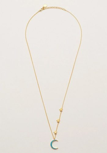 ESTELLA BARTLETT MOON AND STARS NECKLACE - TURQ