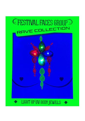 FESTIVAL FACES - LIGHT UP UV FACE JEWELS