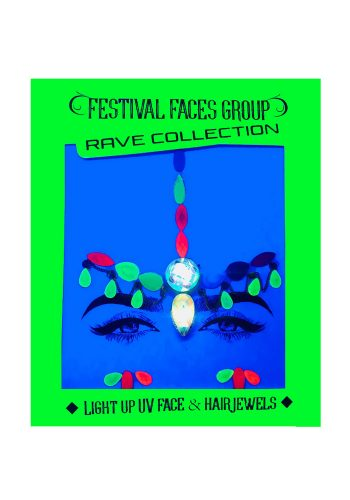 FESTIVAL FACES - LIGHT UP UV FACE AND HAIR JEWELS