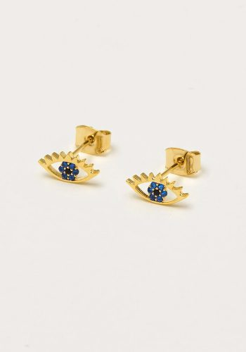ESTELLA BARTLETT EYE EARRINGS - GOLD PLATED