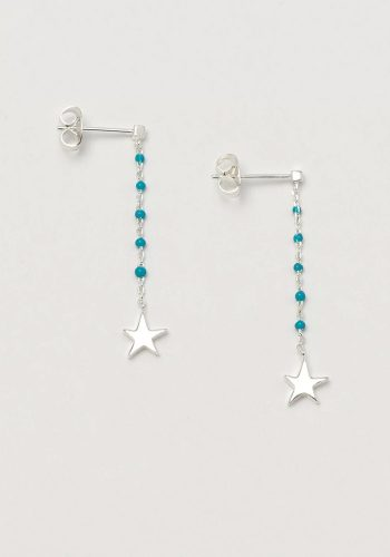 ESTELLA BARTLETT KUSAMA DOT DROP EARRINGS - TURQ