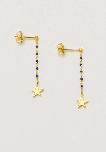 ESTELLA BARTLETT KUSAMA DOT DROP EARRINGS - NAVY