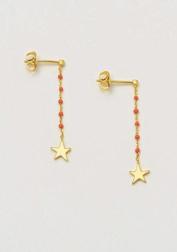 ESTELLA BARTLETT KUSAMA DOT DROP EARRING - ORANGE