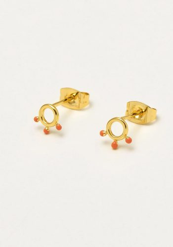ESTELLA BARTLETT KUSAMA DOT EARRINGS - ORANGE