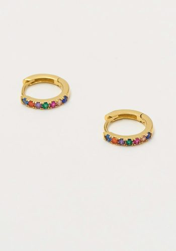 ESTELLA BARTLETT RAINBOW HOOP EARRINGS - GOLD PLATED