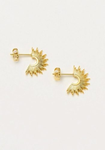 ESTELLA BARTLETT SUNBURST HOOP EARRINGS - GOLD PLATED