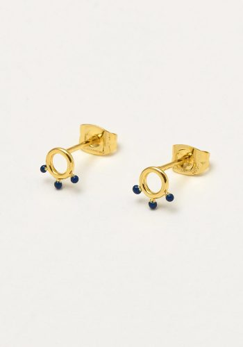 ESTELLA BARTLETT KUSAMA DOT EARRINGS - NAVY