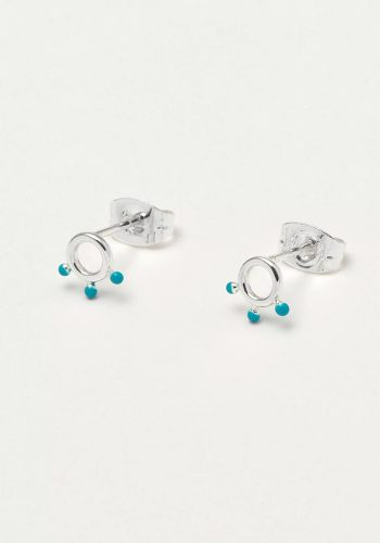 ESTELLA BARTLETT KUSAMA DOT EARRINGS - TURQ