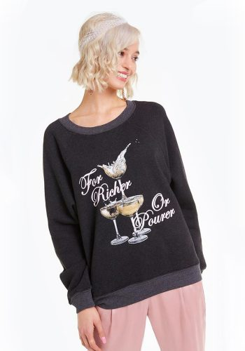 WILDFOX FOR RICHER SOMMERS SWEATSHIRT - CLEAN BLACK