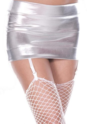 Music Legs Mini skirt with attached garters