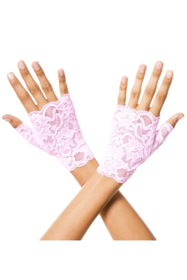 Finger less lace gloves