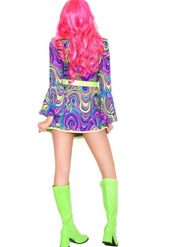 Neon Shake your groove hippie dress