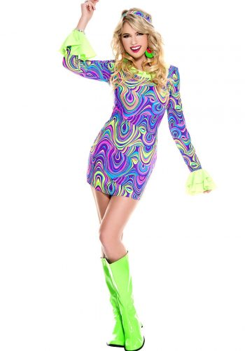 SUIT -  Psychedelic hippie chick dress