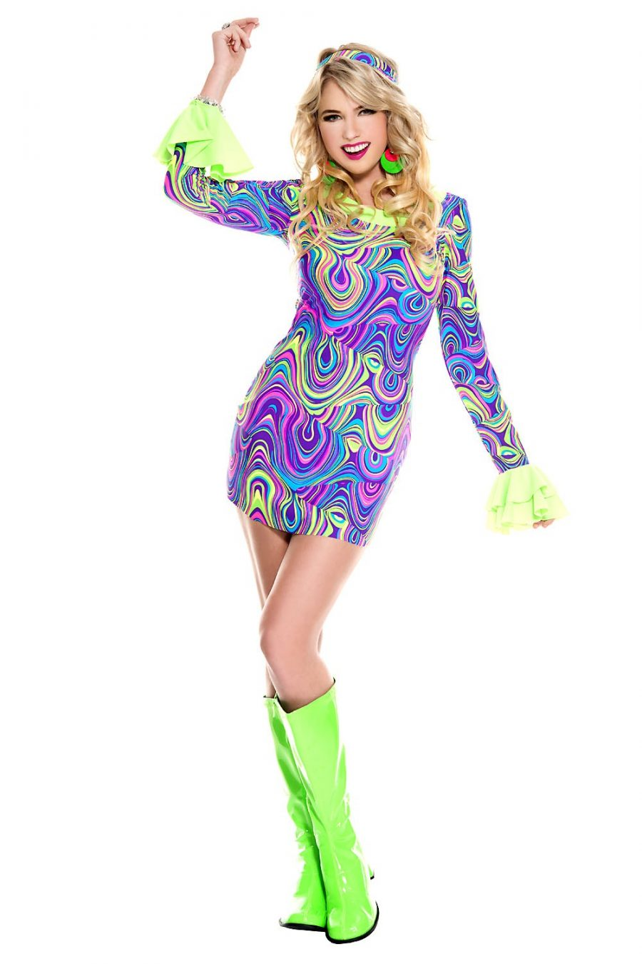 Psychedelic hippie chick dress