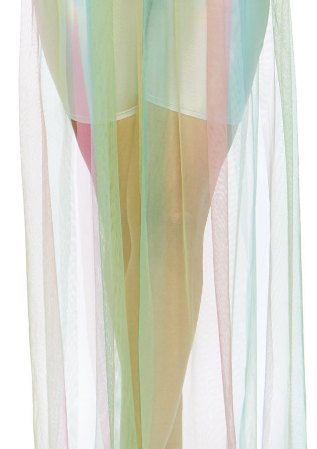 Leg Avenue Multi Slit Sheer Skirt Rainbow
